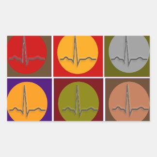 Art de bruit cardiaque de QRS Sticker Rectangulaire