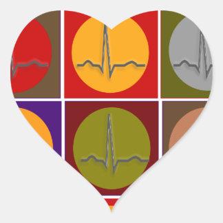 Art de bruit cardiaque de QRS Autocollant En Cœur