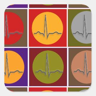 Art de bruit cardiaque de QRS Stickers Carrés