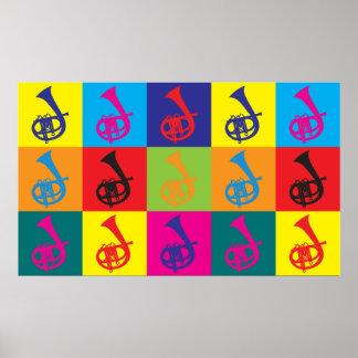 Art de bruit de cornet affiche