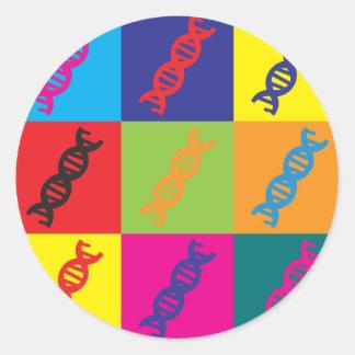 Art de bruit de la génétique autocollant rond