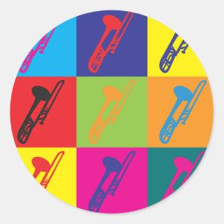 Art de bruit de trombone autocollants ronds