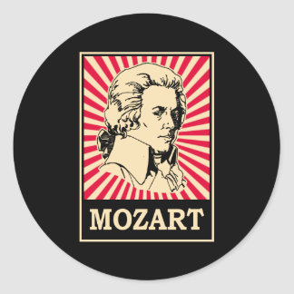 Art de bruit Mozart Sticker Rond