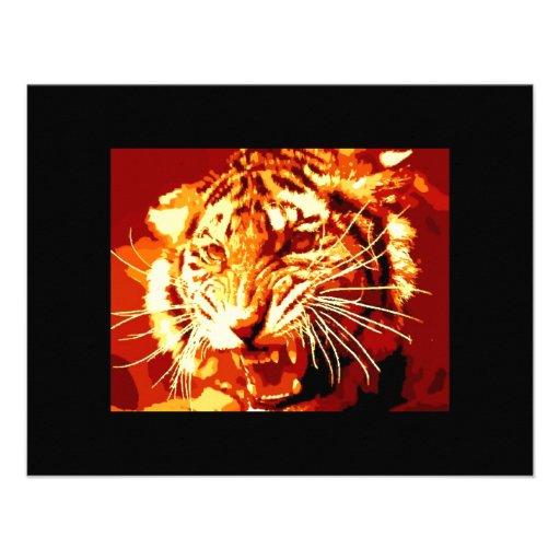 Art de bruit sauvage de tigre faire-parts
