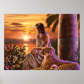 """Art """"de coucher du soleil du Nil"""" Affiche"""