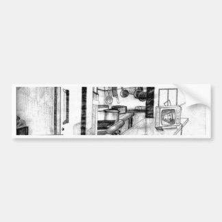 """Art de CricketDiane """"de wagon-restaurant de pays"""" Autocollant De Voiture"""