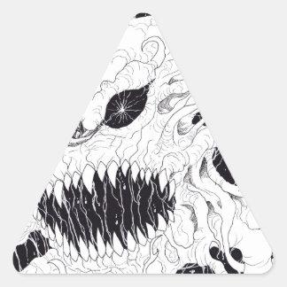 Art de fantôme de démon stickers en triangle
