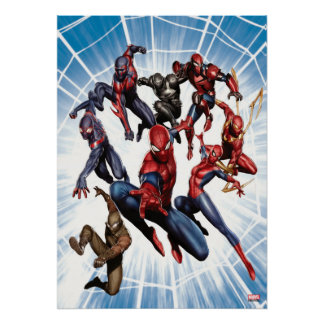 Art de galerie de guerriers de Web de Spider-Man