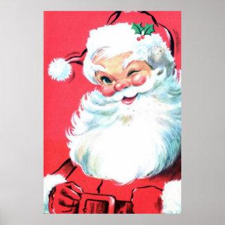 Art de mur d'affiche du père noël pour Noël Poster