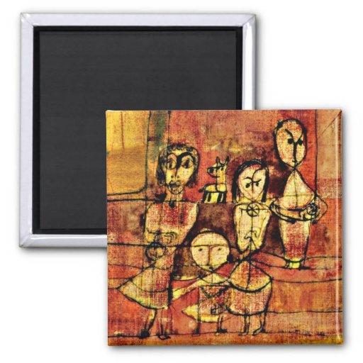 Art de Paul Klee : Enfants et chien Aimant Pour Réfrigérateur