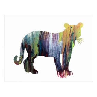 Art de puma/puma carte postale