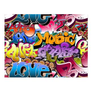 Art de rue de graffiti cartes postales