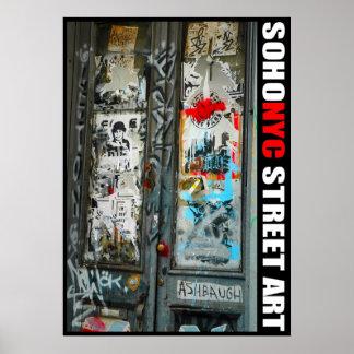 Art de rue de SoHo NYC Poster