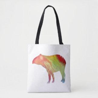 Art de tapir tote bag