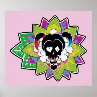 Art de tatouage de crâne du peloton | Harley Quinn Poster