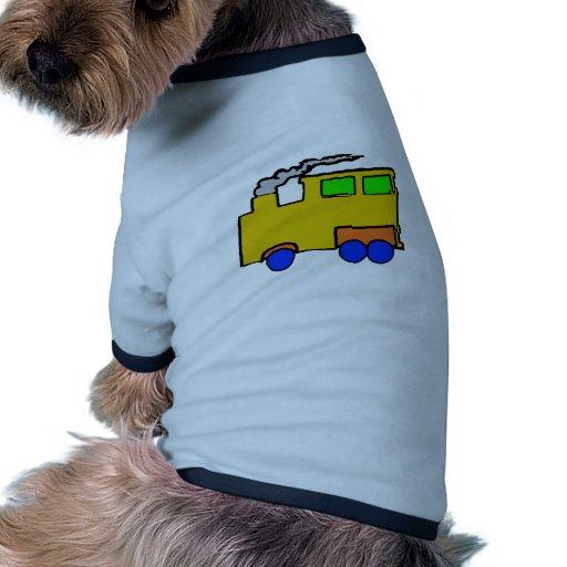 Art de train de garçon d'anniversaire tee-shirts pour chien
