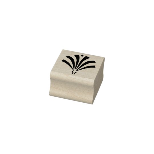 Art Deco 1920s Palmetto Finial Rubber Stamp