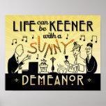 Art Deco 20s Retro Sunny Demeanour Inspirational Poster