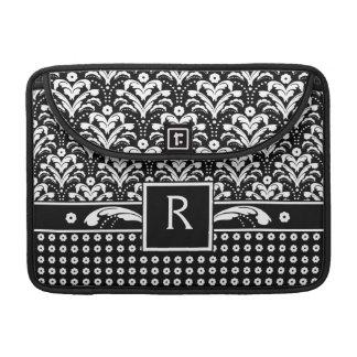 Art Deco 30s Formal Elegance Floral Damask Sleeve For MacBooks