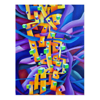 Art Deco Abstract Interlocking Shapes Postcard