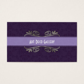 Art Deco and damask business cards