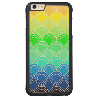 Art deco, art nouveau, vintage, shell,fan,pattern, carved maple iPhone 6 plus bumper case