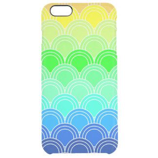 Art deco, art nouveau, vintage, shell,fan,pattern, clear iPhone 6 plus case