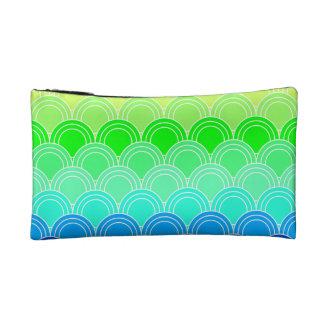 Art deco, art nouveau, vintage, shell,fan,pattern, cosmetic bag