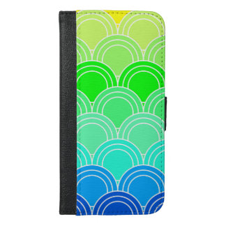 Art deco, art nouveau, vintage, shell,fan,pattern, iPhone 6/6s plus wallet case