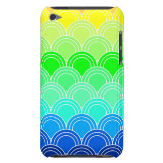 Art deco, art nouveau, vintage, shell,fan,pattern, iPod touch case