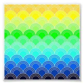 Art deco, art nouveau, vintage, shell,fan,pattern, photo print