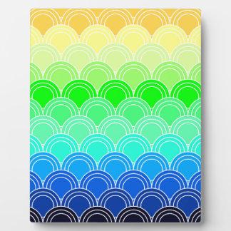 Art deco, art nouveau, vintage, shell,fan,pattern, plaque