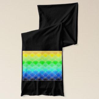 Art deco, art nouveau, vintage, shell,fan,pattern, scarf