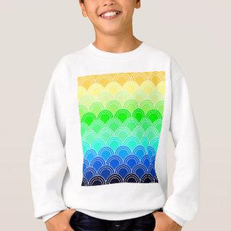 Art deco, art nouveau, vintage, shell,fan,pattern, sweatshirt