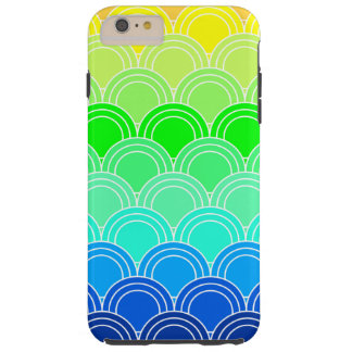 Art deco, art nouveau, vintage, shell,fan,pattern, tough iPhone 6 plus case