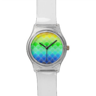 Art deco, art nouveau, vintage, shell,fan,pattern, watch