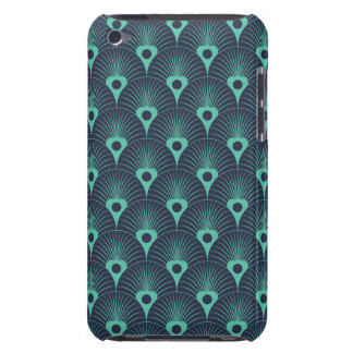 art deco, art nouveau, vintage,teal,green,blue,fan barely there iPod case