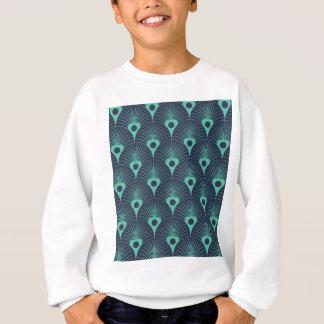 art deco, art nouveau, vintage,teal,green,blue sweatshirt