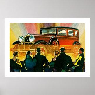 Art Deco Automobile Illustration Poster