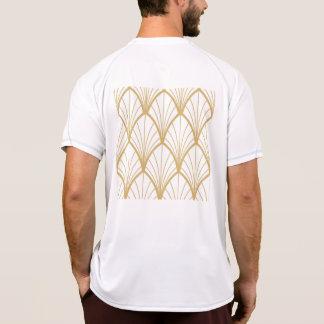 art deco, beautiful,fan pattern, gold,white,vintag T-Shirt
