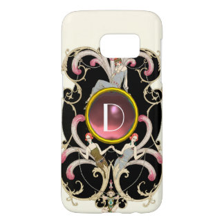 ART DECO BEAUTY FASHION PINK GEMSTONE MONOGRAM SAMSUNG GALAXY S7 CASE