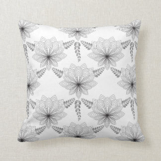 Art Deco Black and White Throw Pillow