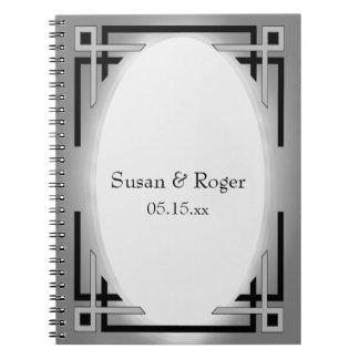 Art Deco Black & Silver Notebooks