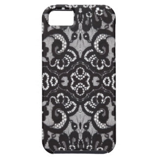 Art Deco Bohemian Chic floral Gothic black lace iPhone 5 Covers