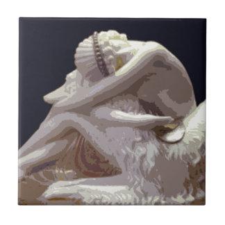 Art Deco Borzoi Love Tile