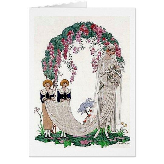Art Deco Bride Card