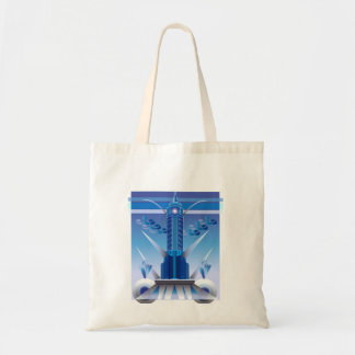 Art Deco Building Design on Budget Tote Bag
