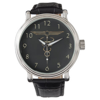 Art Deco Caduceus Watch