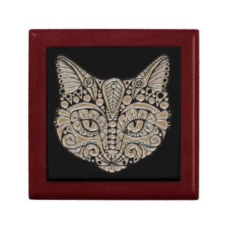 Art deco cat jewel emblem gift/jewelry box