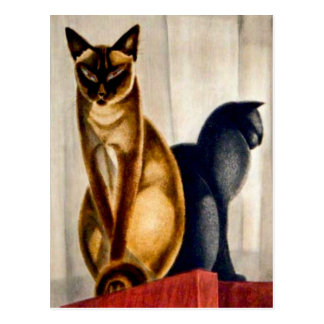 Art Deco Cats Postcard